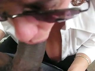 My boss on all occasions makes me stay after work because she just loves my black cock