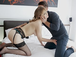 Sweetie feels cum on her hairy cunt after a good residence intrigue b passion