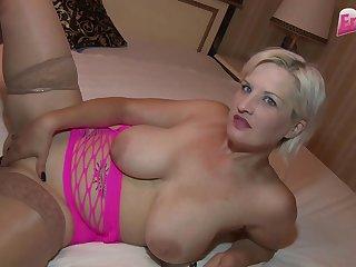 Germam big natural boobs flaxen-haired milf