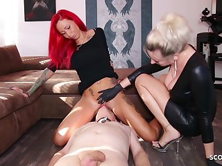 German Domina Let Slave Swept off one's feet Mistress Teen Pussy To Org
