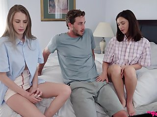 Elegant sisters are bewitched to share the dick in such flawless scenes