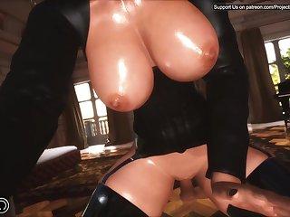 Hot cartoon 3d MILF kinky porn video