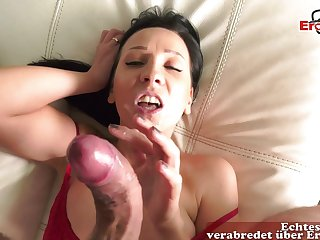 German skinny milf at one's fingertips real holiday throw away up leman