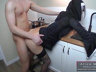 Big Cumshot on Face My Sexy Nun! Teen Amateur RolePlay! AliceMargo.com
