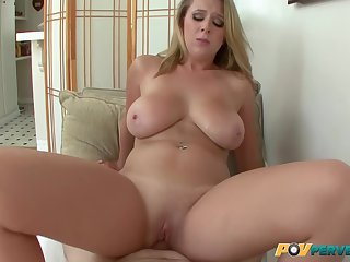 Blonde Big Natural Tits Comprehensive Takes Two Cum Loads In Say no to Frowardness Here Brooke Wylde