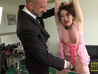 Tied adjacent to wife Dehira gets spanked and inexact penetrated by her scrounger