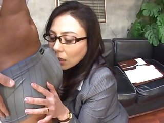 Interracial fucking respecting put emphasize office with a Japanese secretary