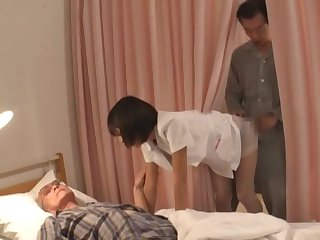 Sensual Asian wife roughly penetrated in a weird situation