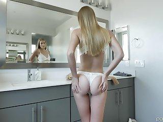 Horny teen blonde Jenni Jordan gets a hardcore doggy style fuck