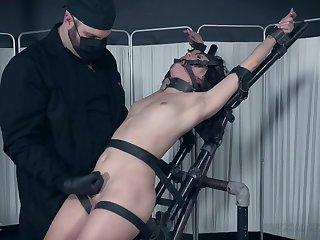 Hardcore BDSM fetish scene with slave girl Alex More tortured