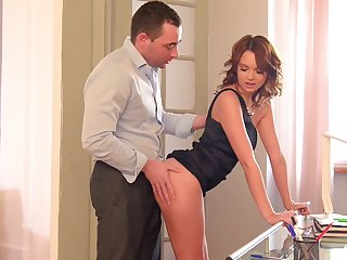 Emily Thorne rides like a nympho after giving a sloppy blowjob