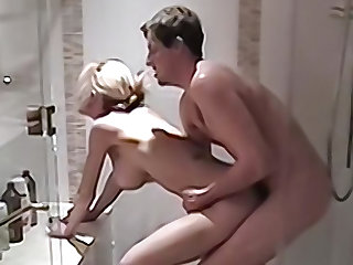 Domineer blonde wife gets fucked in the shower