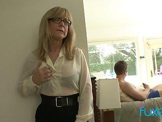 Mature fake tittied stepmom not fair her stepson jerking off hard big weasel words