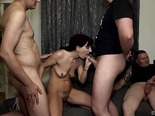 Sexy Samy Saint likes rough group sex more than at the start