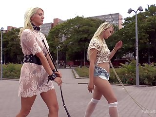 Blonde Juliette March loves everything about humiliation in lenience