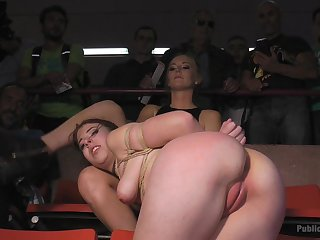 Rena Reindeer gets say no to pussy banged by a ladies' in the public bar