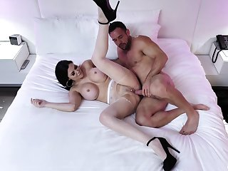 Cougar join in matrimony spreads for this blot out and deals his dick right