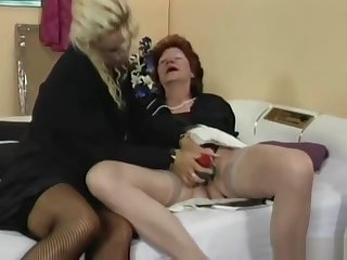 Granny fucks her lesbian friends pussy with strapon mainly GotPo